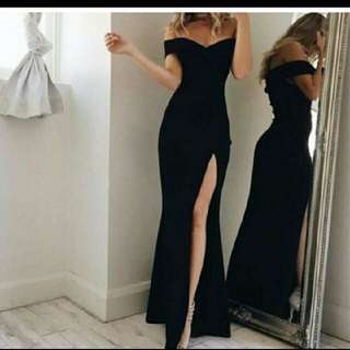 Black Elegant Long Gown for Rent
