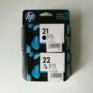 HP printer INK 21 & 22