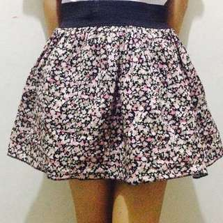 Puffed Floral Skirt