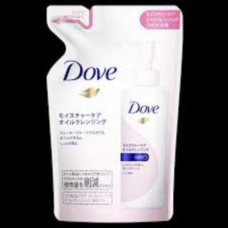 Dove moisture care cleansing oil 165 ml refill