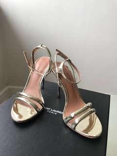 Zara Gold strap heels