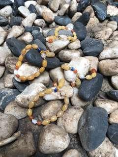 黃玉金珠子手鍊 可愛 特色 有黃色或橙色可選