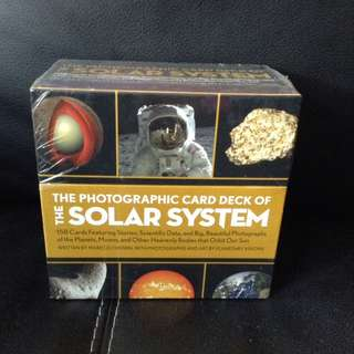 The photographic card deck of the Solar System