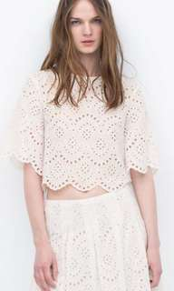 zara eyelet coords (top and skirt)