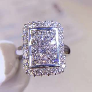 18K白金 鑽石戒指