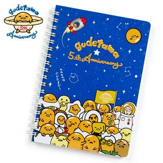 Japan Sanrio Gudetama 5th Anniversary Collection 2018 B6 Spiral Note (Planet)