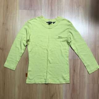 Free Mail! Pale Yellow Long Sleeves T-shirt