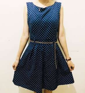 Elegant Polka Dress