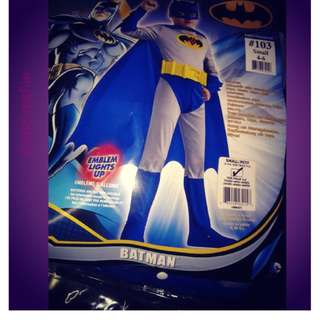 Batman authentic costumes for kids 4 to 6/7y