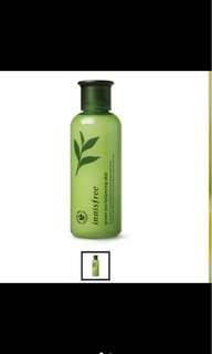 全新 Innisfree 綠茶水平衡調理液 (化妝水)200mL 原價600