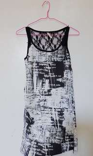 Black and white dress with lace