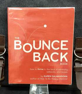# Highly Recommended《Preloved Good Condition + Offers 70 Tips On How To Bounce Back From Adversity》Karen Salmansohn - THE BOUNCE BACK BOOK : How to Thrive in the Face of Adversity, Setbacks, and Losses