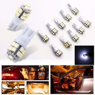 LAT0330WH - (SALE) 10pcs 20 SMD T10 Interior Car Light Bulb