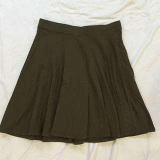 F21 Green Skater Skirt