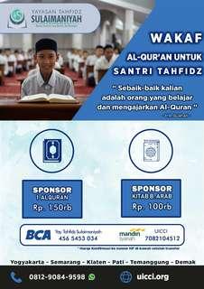 Wakaf Al-Qur'an untuk Santri Tahfidz