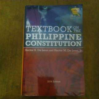 Textbook on the Phil. Constitution by Hector De Leon