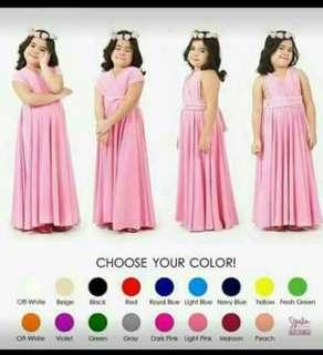 Infinity dress kids (5-12 yrs old)