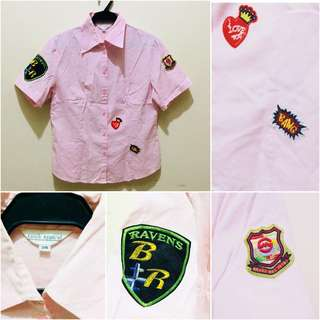 Pink Polo With Patches