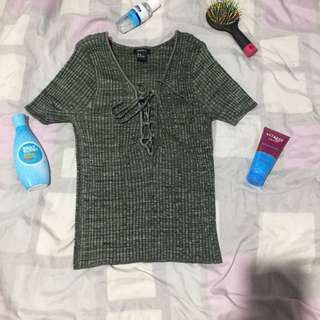 Knitted f21 crop top