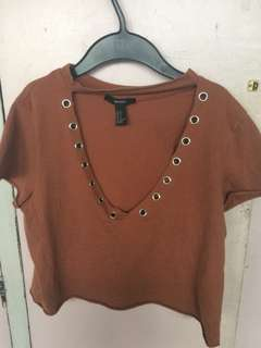 Forever 21 Cropped Choker Top