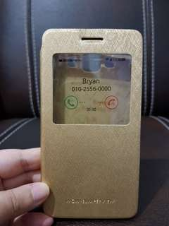 Flip Cover Gold Like a book For Samsung Galaxy A5
