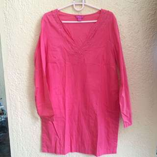 Pink Long Blouse