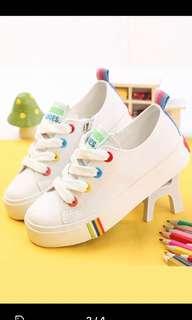 White stylish children shoes