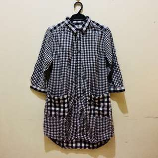 Checkered Polo Dress  (NOT4SWAP)