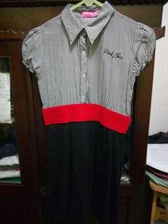 Mini dress top atasan