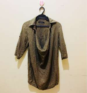 Faded Army Green Loose Dress  (NOT4SWAP)