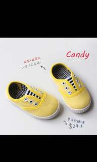 Yellow children shoes