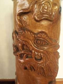 民間根雕家作品,樟木雕刻藝術收藏品