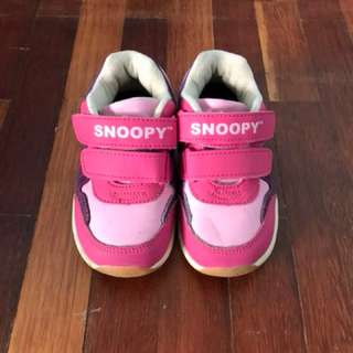 Pink Snoopy Shoes For 2 Years
