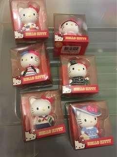 Hello Kitty 絕版 一套6個角色 擺設