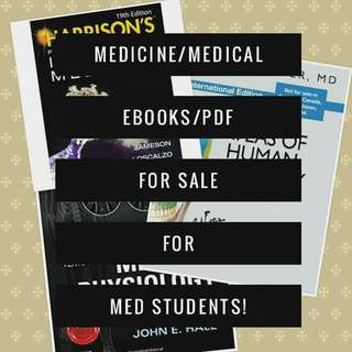 MEDICINE/MEDICAL EBOOKS/PDF for med students