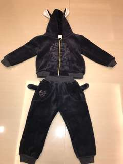 Set warmers top + pants for babies boys