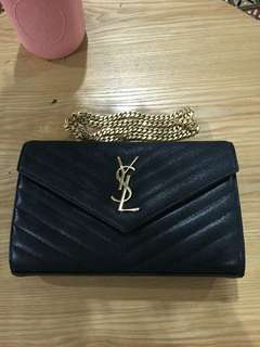 AUTHENTIC YSL WOC Black with Gold Hardware
