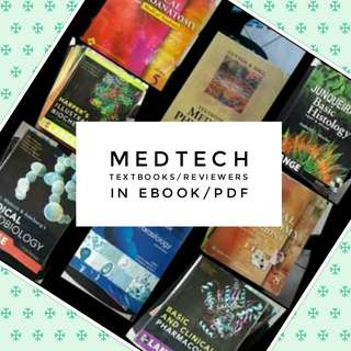 MEDTECH TEXTBOOKS/REVIEWERS in ebook/pdf