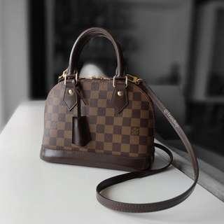 Authentic Louis Vuitton Damier Ebene Alma BB LV