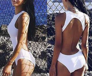 White One-piece open back
