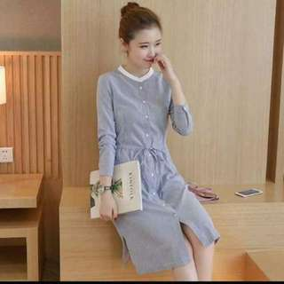 LOng Sleeves Button Up Dress