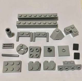 Lego Bricks 17 New Gray