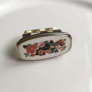 西洋古典手鏡 口紅架 手指鏡