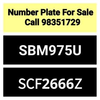 Car number plate (28 years old) for sale - call 98351729