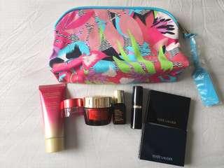 Estee Lauder 7pc Pure Radiance with Floral Bag travel set