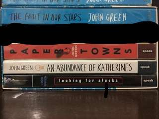 John Green Book Set (TFIOS, Paper Towns, An Abundance of Katherines, Looking for Alaska)