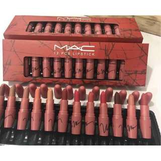 mac 12 pcs lipstick