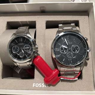 Original Fossil Couple Watch with FREE ENGRAVE