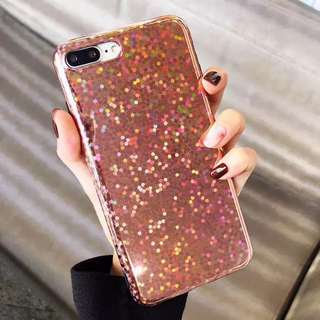 iPhone Case Pink Glitter