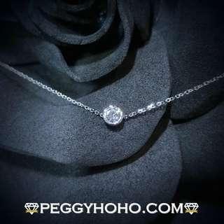 【Peggyhoho】全新18K白金10份真鑽石手鍊| 簡約清新 | 送禮首選 韓風百搭
